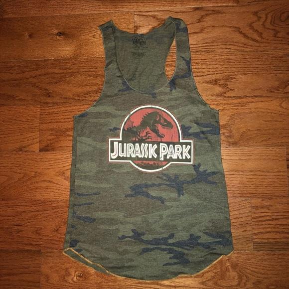8568491d Jurassic Park Camo Tank Top Size Medium. M_5afcd7f7a4c48551617273a7